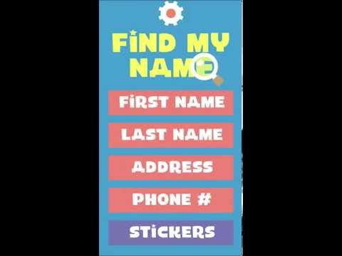 Find My Name - Teach preschoolers to recognize their own name! iOS App Preview