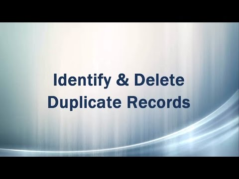 Identify and Delete Duplicate records (rows) - SQL Server