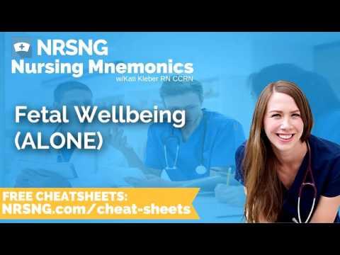 Fetal Wellbeing ALONE Nursing Mnemonics, Nursing School Study Tips