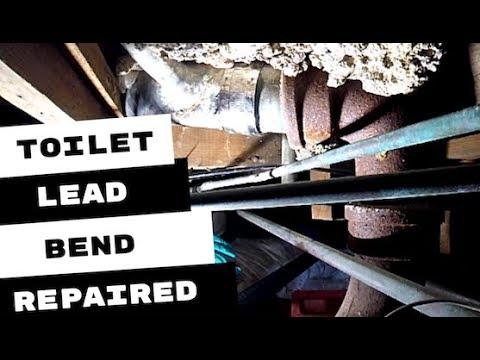 HOW I REPAIRED A TOILET LEAD BEND LEAK IN CRAWL SPACE