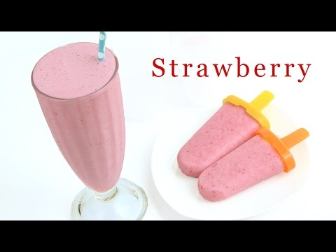 Strawberry Smoothie & Strawberry Popsicle Recipe 딸기 스무디 만들기 - 한글자막