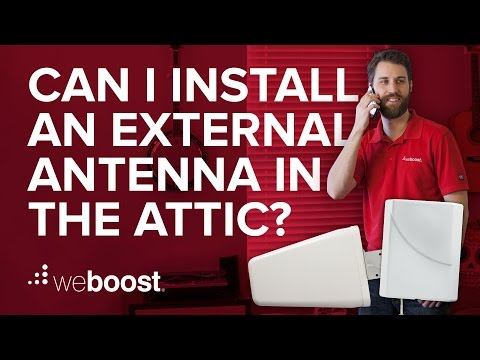 Can I put my external antenna in the attic? | weBoost