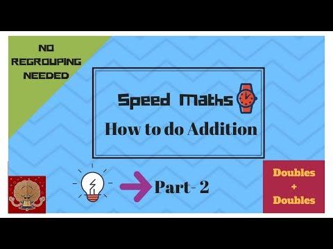Class 1 Fast Maths for kids - Fast Addition Part-2  Vedic Maths  Quick Maths for kids