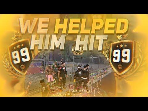WE HELPED HIM HIT 99 BEFORE THE DEADLINE!!! NBA 2K18