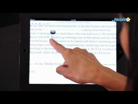 How to Copy and Paste on The iPad