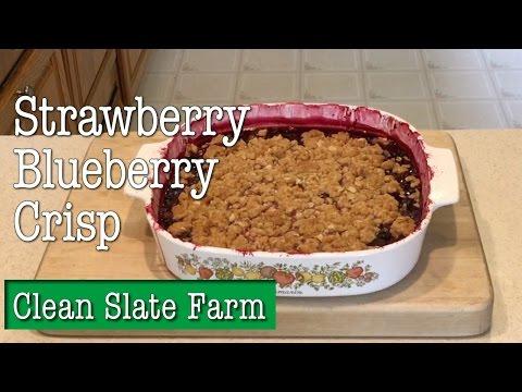 What's a fruit crisp? We make a Strawberry-Blueberry Crisp