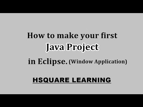 (Java) Create Window Application project in Eclipse for Java
