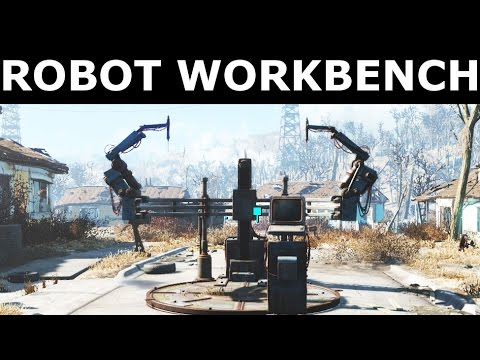 Fallout 4 Automatron - Build The Robot Workbench, Install Radar Beacon On Ada -