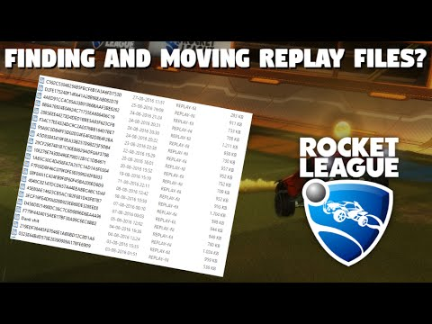 How to find and move Rocket League .Replay Files [Tutorial - PC]