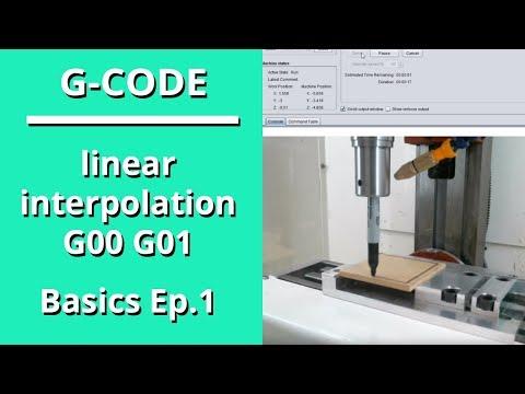 G-Code Basics, Ep. 1 - Linear Interpolation G00 G01