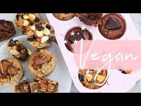 3 VEGAN MUFFIN RECIPES | Gluten Free + Healthy | Sarah's Day