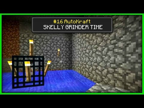 Minecraft - SKELETON GRINDER ! [ AutoKraft Lets Play #16 ] Console / MCPE / Bedrock