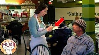 Una cameriera tratta con gentilezza un vagabondo. Quando scopre chi era, scoppia a piangere..