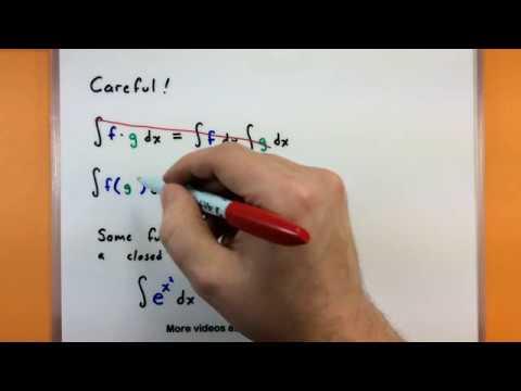 Calculus - The basics of indefinite integrals