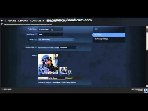 Steam - How to Change Your Username and Profile Picture