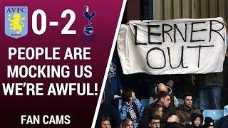 "FAN CAMS | Aston Villa 0-2 Tottenham | ""PEOPLE ARE MOCKING US, WE"