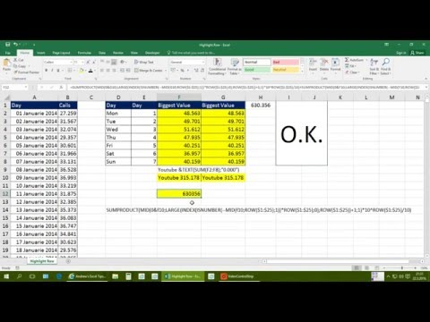 Highlight row in excel using VBA & extract numbers from text