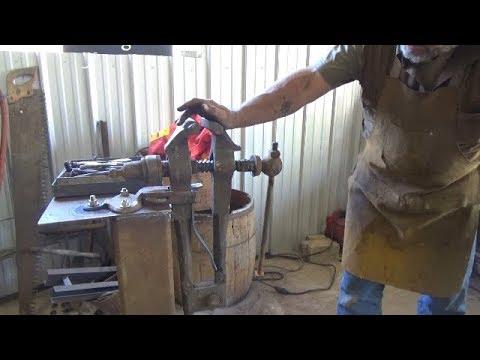 Blacksmithing - Forging A Spring For My Post Leg Vise