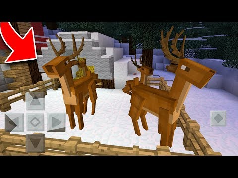 How to Spawn REINDEER in Minecraft! (Pocket Edition, Xbox, PC)
