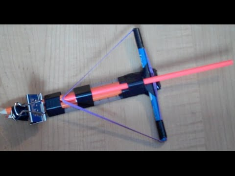 Make a Mini Crossbow - Easy