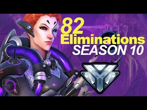 MOIRA GETS 82 ELIMINATIONS SEASON 10 OVERWATCH (Comp Play)