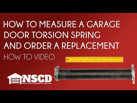 How to Measure a Garage Door Torsion Spring and Order a Replacement