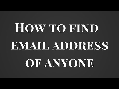 How to find almost anyone's email address in just a minute