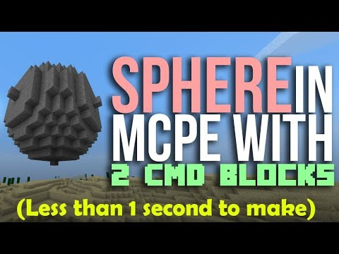 How to make SPHERES in Minecraft with command blocks in Minecraft PE (CIRCLES!!)