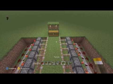 Minecraft - How to Build a Sticky Piston Trap