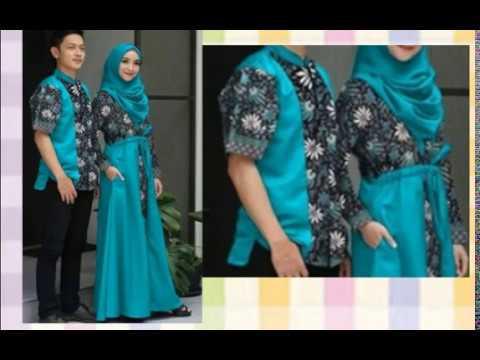 Model Baju Gamis Batik Terbaru Sarimbit Couple 2018 Vidlyxyz