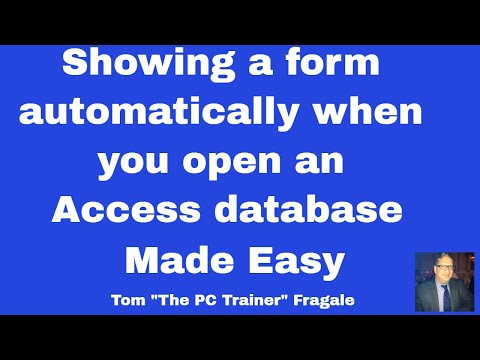 Displaying a Form when Going into an Access  Database - Access 2010 , 2013, 2016 tutorial
