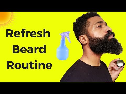 From Dry To Soft Refresh Beard Routine  | Super Quick Natural Hydration | Black Men Beard