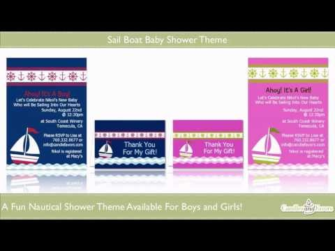 Sailboat Baby Shower Theme