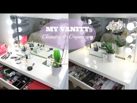 CLEAN & ORGANIZE MY VANITY WITH ME II HOW I ORGANIZE MY MAKE UP