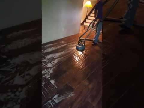wood grain tile floor clean