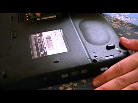 How to remove the optical drive on Toshiba Satellite L300D