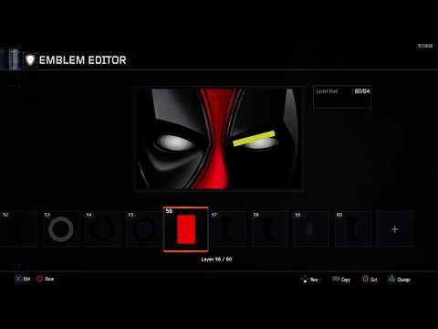 DEADPooL Emblem Tutorial Black Ops 3