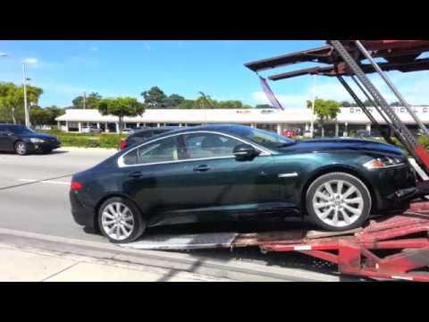 2013 Jaguar XK Open Carrier Unload by United Auto Freight