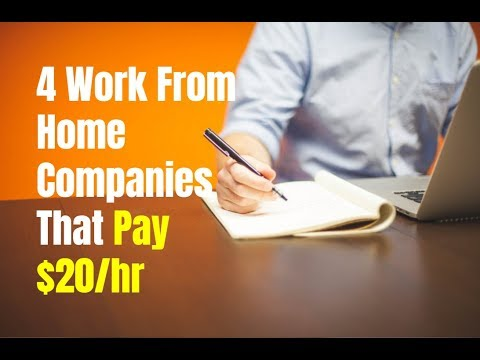 4 Work From Home Companies That Pay $20/hr (Medical Field)