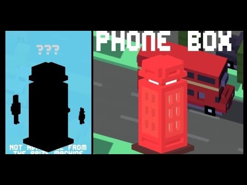Crossy Road Gameplay - Phone Box Unlock! (UK & Ireland Update)