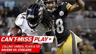 Two Unbelievable Plays by Alex Collins on this TD Drive! | Can