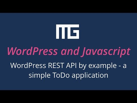 WordPress REST API by example - a simple ToDo application