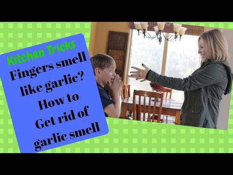 Fingers smell like garlic? How to get rid of garllic smell on hands!!