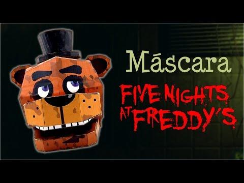 Máscara de Freddy de Five Nights at Freddy's, cómo se hace