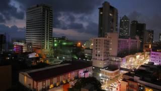 Sundown on the rooftop, Colombo, Sri Lanka