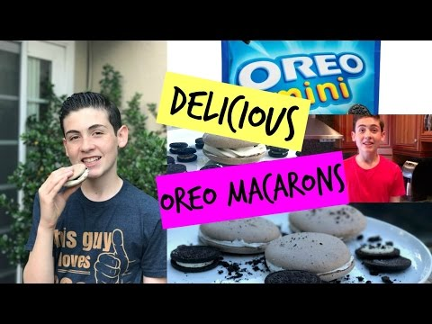 How To Make OREO MACARONS | Episode 28 Baking With Ryan