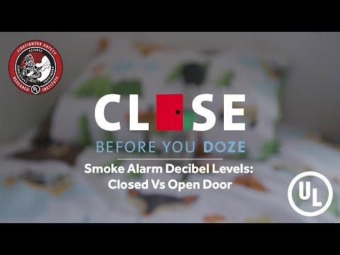 Open VS Closed Door Decibels