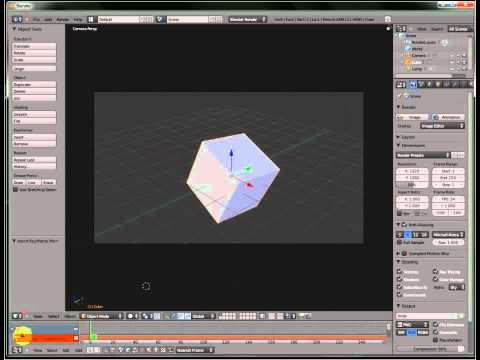 Blender 3d Modeling Tutorial ( 2 ) Your First Animation