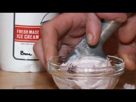 Bone Marrow and Smoked Cherry Ice Cream with Bourbon