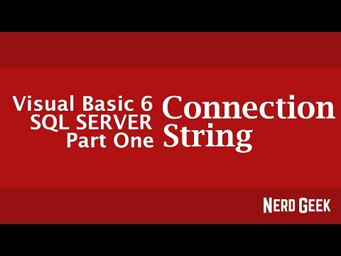 Visual Basic 6 Tutorial - Connecting to Database (SQL Server) Part 1 - Connection String